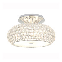 Access Lighting Kristal 6 Light Crystal Semi-Flush in Chrome with Clear Crystal Glass 51003-CH/CCL