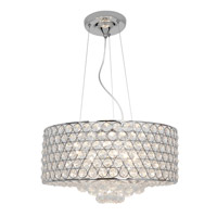 Access Lighting Kristal 6 Light Crystal Cable Pendant in Chrome with Clear Crystal Glass 51004-CH/CCL