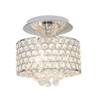 Access Lighting Kristal 3 Light Crystal Semi-Flush in Chrome with Clear Crystal Glass 51005-CH/CCL