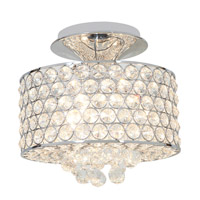 Access Lighting Kristal 4 Light Crystal Semi-Flush in Chrome with Clear Crystal Glass 51006-CH/CCL