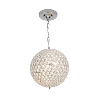 Access Lighting Kristal 3 Light Chain hung Ball Pendant in Chrome with Clear Crystal Glass 51007-CH/CCL