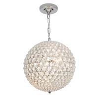 Access Lighting Kristal 5 Light Chain hung Ball Pendant in Chrome with Clear Crystal Glass 51008-CH/CCL