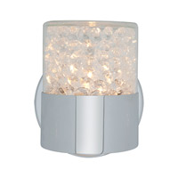 Access Lighting Kristal 1 Light Crystal Wall/Vanity in Chrome with Clear Crystal Glass 51011-CH/CCL