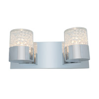 Access Lighting Kristal 2 Light Crystal Wall/Vanity in Chrome with Clear Crystal Glass 51012-CH/CCL