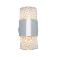 Access Lighting Kristal 2 Light Crystal Wall/Vanity in Chrome with Clear Crystal Glass 51015-CH/CCL