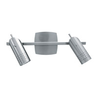 Odyssey 2 Light 16 inch Brushed Steel Vanity Wall Light