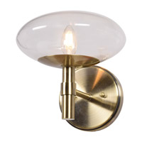 Access 52091LEDDLP-BB/CLR Grand LED 9 inch Brushed Brass Wall Sconce Wall Light