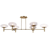 Grand LED 56 inch Brushed Brass Chandelier Ceiling Light