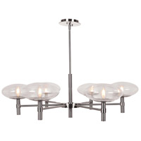 Access 52093LEDDLP-BS/CLR Grand LED 38 inch Brushed Steel Chandelier Ceiling Light