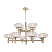 Grand LED 42 inch Brushed Steel Chandelier Ceiling Light