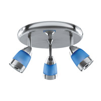 Access Lighting Zig Spot 3 Light Spotlight Cluster in Brushed Steel 52106-BS/BLU photo thumbnail
