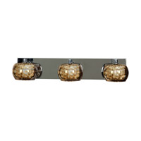Access 52113-CH/MIR Glam 3 Light 24 inch Chrome Bath Light Wall Light photo thumbnail