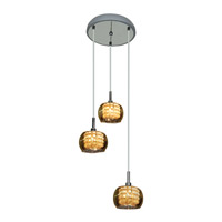 Access Lighting Glam 3 Light Pendant in Chrome 52117-CH/MIR