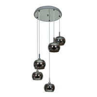 Access 52118-CH/MIR Glam 5 Light 14 inch Chrome Pendant Ceiling Light alternative photo thumbnail