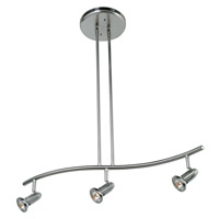 Access 52205-BS Cobra 3 Light 27 inch Brushed Steel Pendant Ceiling Light