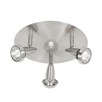 Mirage Brushed Steel 50 watt 3 Light Spotlight