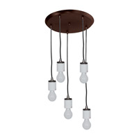 Circ 5 Light 14 inch Oil Rubbed Bronze Pendant Ceiling Light