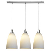 Access Lighting Rain 3 Light Rain Glass Bar Pendant in Brushed Steel 52303-BS/WRD photo thumbnail