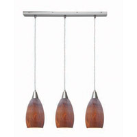 Access Lighting Inari Silk 3 Light Maxi Pendant in Brushed Steel 52312-BS/AZT photo thumbnail