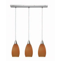 Access Lighting Inari Silk 3 Light Maxi Pendant in Brushed Steel 52312-BS/PLM photo thumbnail