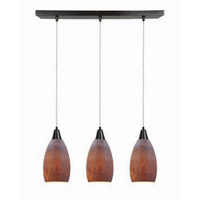 Access Lighting Inari Silk 3 Light Maxi Pendant in Oil Rubbed Bronze 52312-ORB/AZT photo thumbnail