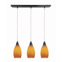 Access Lighting Inari Silk 3 Light Maxi Pendant in Oil Rubbed Bronze 52312-ORB/MYA photo thumbnail