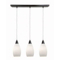 Access Lighting Inari Silk 3 Light Maxi Pendant in Oil Rubbed Bronze 52312-ORB/OPL photo thumbnail