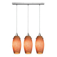 Access Lighting Fleur 3 Light Maxi Pendant in Brushed Steel 52376-BS/AMM photo thumbnail