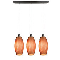 Access Lighting Fleur 3 Light Maxi Pendant in Oil Rubbed Bronze 52376-ORB/AMM photo thumbnail