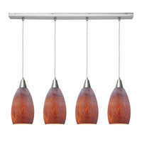 Access Lighting Inari Silk 4 Light Maxi Pendant in Brushed Steel 52412-BS/AZT photo thumbnail