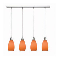 Access Lighting Inari Silk 4 Light Maxi Pendant in Brushed Steel 52412-BS/ORG photo thumbnail