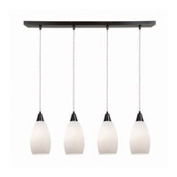 Access Lighting Inari Silk 4 Light Maxi Pendant in Oil Rubbed Bronze 52412-ORB/OPL photo thumbnail