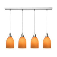 Access Lighting Inari Silk 4 Light Maxi Pendant in Brushed Steel 52418-BS/AMB photo thumbnail