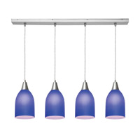 Access Lighting Inari Silk 4 Light Maxi Pendant in Brushed Steel 52418-BS/COB photo thumbnail