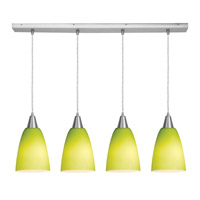 Access Lighting Inari Silk 4 Light Maxi Pendant in Brushed Steel 52422-BS/LGR photo thumbnail