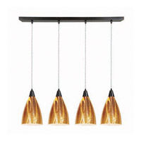 Access Lighting Safari 4 Light Maxi Pendant in Oil Rubbed Bronze 52425-ORB/AMZ photo thumbnail