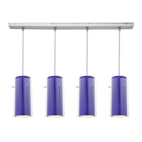 Access Lighting Glass in Glass 4 Light Maxi Pendant in Brushed Steel 52433-BS/CLCB photo thumbnail