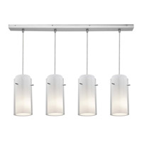 Access Lighting Glass in Glass 4 Light Maxi Pendant in Brushed Steel 52433-BS/CLOP photo thumbnail