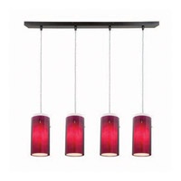Access Lighting Glass in Glass 4 Light Maxi Pendant in Oil Rubbed Bronze 52433-ORB/PLOP photo thumbnail