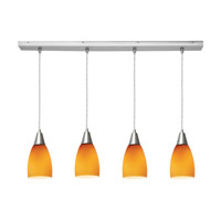 Access Lighting Inari Silk 4 Light Maxi Pendant in Brushed Steel 52469-BS/AMB photo thumbnail