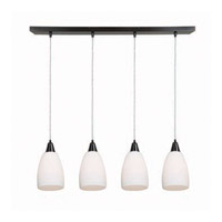 Access Lighting Inari Silk 4 Light Maxi Pendant in Oil Rubbed Bronze 52469-ORB/OPL photo thumbnail