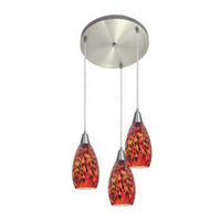 Access Lighting Inari Silk 3 Light Maxi Pendant in Brushed Steel 52512-BS/CRN photo thumbnail