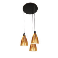 Access Lighting Safari 3 Light Maxi Pendant in Oil Rubbed Bronze 52525-ORB/AMZ photo thumbnail