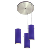 Access Lighting Inari Silk 3 Light Maxi Pendant in Brushed Steel 52530-BS/COB photo thumbnail