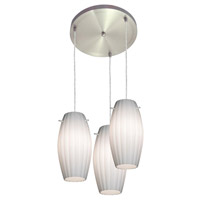 Access Lighting Fleur 3 Light Maxi Pendant in Brushed Steel 52576-BS/OPL photo thumbnail
