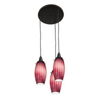 Access Lighting Fleur 3 Light Maxi Pendant in Oil Rubbed Bronze 52576-ORB/PLM photo thumbnail