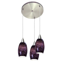 Access Lighting Swirl 3 Light Maxi Pendant in Brushed Steel 52578-BS/PLS photo thumbnail