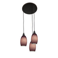 Access Lighting Swirl 3 Light Maxi Pendant in Oil Rubbed Bronze 52578-ORB/PLC photo thumbnail