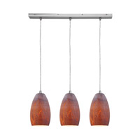 Access Lighting Inari Silk 3 Light Maxi Pendant in Brushed Steel 52612-BS/AZT photo thumbnail