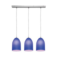 Access Lighting Inari Silk 3 Light Maxi Pendant in Brushed Steel 52618-BS/COB photo thumbnail